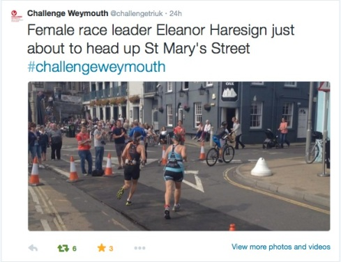 With race leader Eleanor Haresign