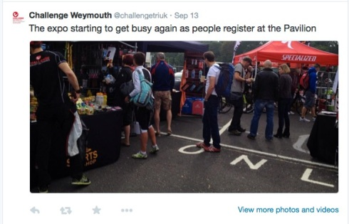 Tweet about the Expo at Challenge Weymouth