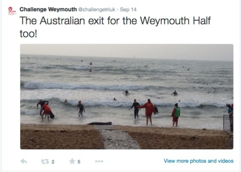 Tweet about the Australian exit