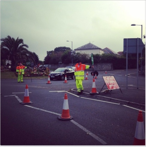 Marshalls at roundabout