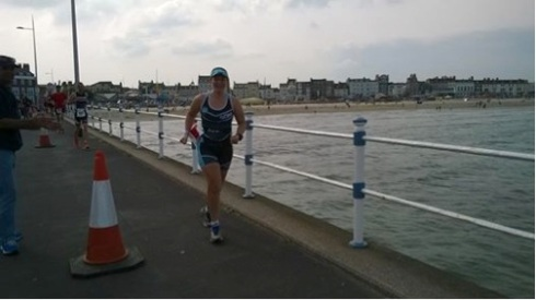 Tamsyn running in Weymouth
