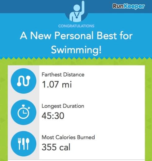 June swimming PBs