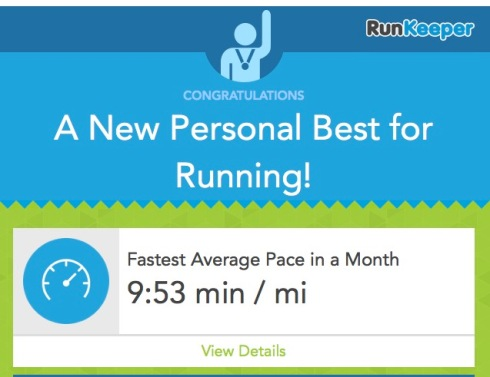 New PB for running October 6th 2014