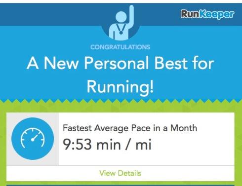 New PB for running October 6th 2014