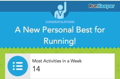 New PB for running 7th October