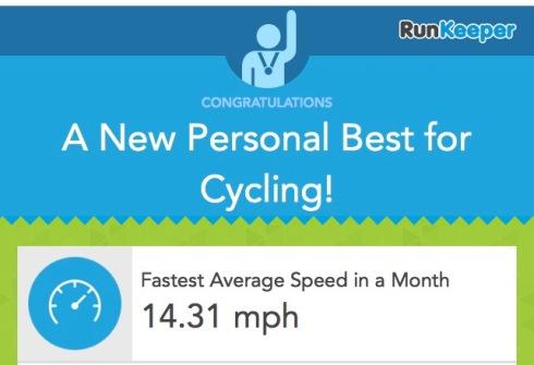 Cycling PB 5th September