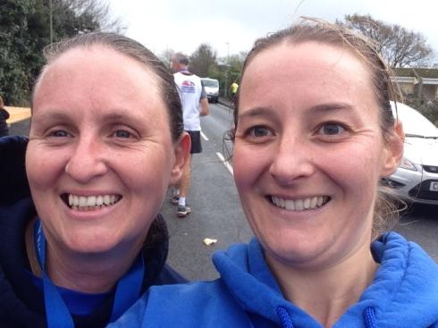 Posing with Sam after Gosport Half Marathon