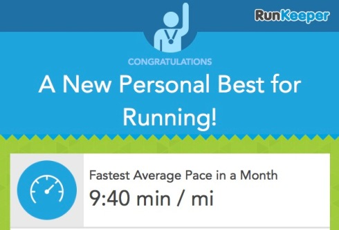 RunKeeper PB Jan 14
