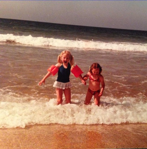 Bryony and Tamsyn at the beach