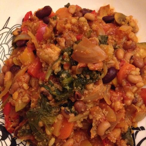 Vegan chipotle chilli with quinoa and amaranth