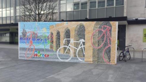 Love cycling mural