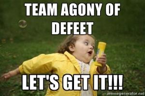 Agony of defeet meme