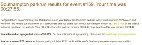 Southampton parkrun 159 27th June 27 55