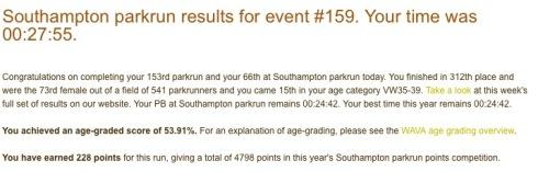 Southampton parkrun 159 27th June 27 55