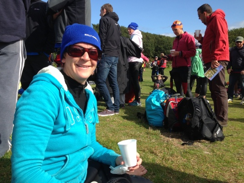 Roelie enjoying a cup of tea