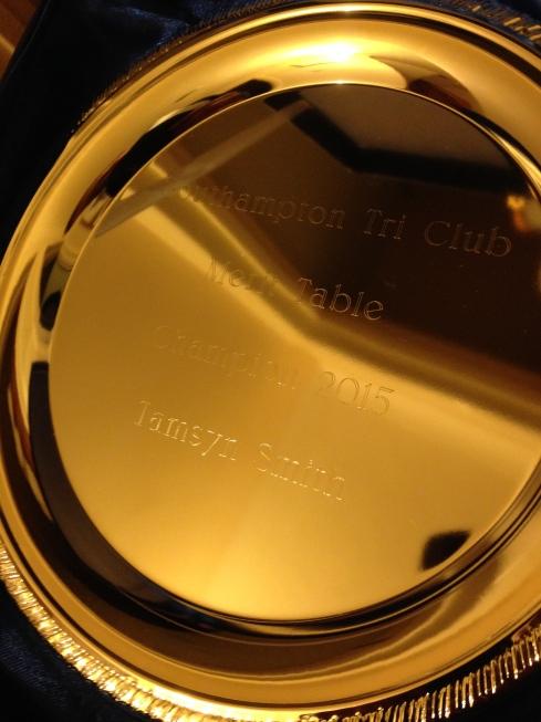 Tri Club silver salver