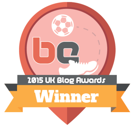 2015 UK Blog Awards winner