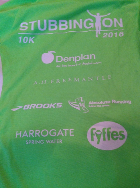 Stubbington 10k tshirt rear