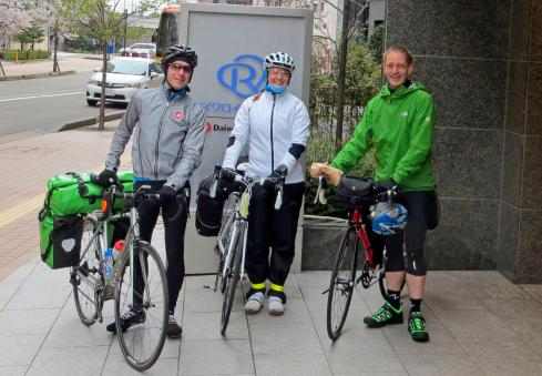 Wrapped up before our first full day of cycling in Japan