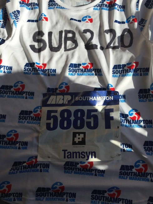 My sub 2:20 pacing t-shirt
