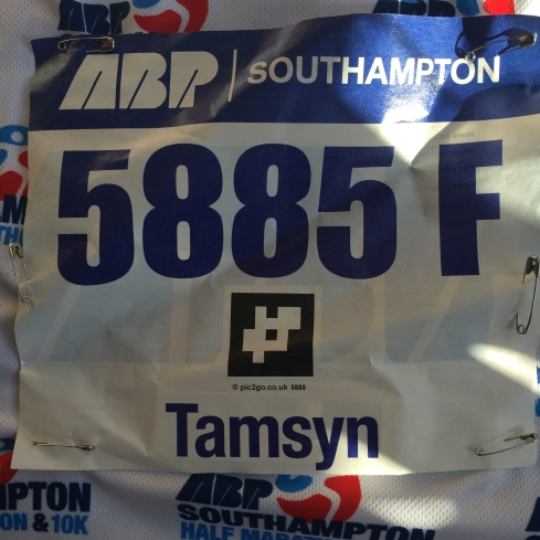 My race number: 5885