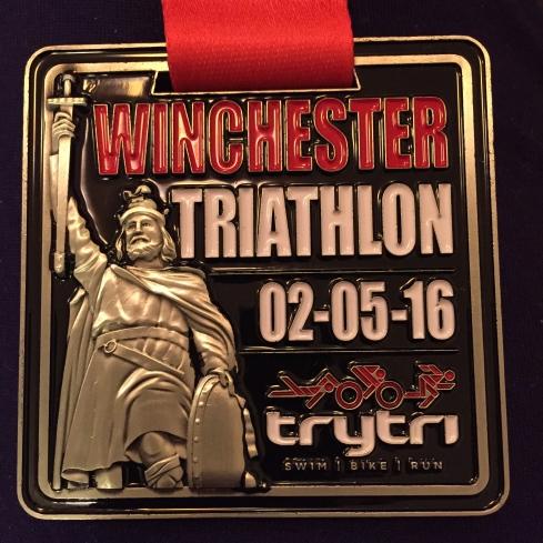 Winchester triathlon medal
