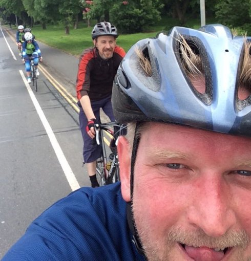 Tour de Y Norfolk selfie