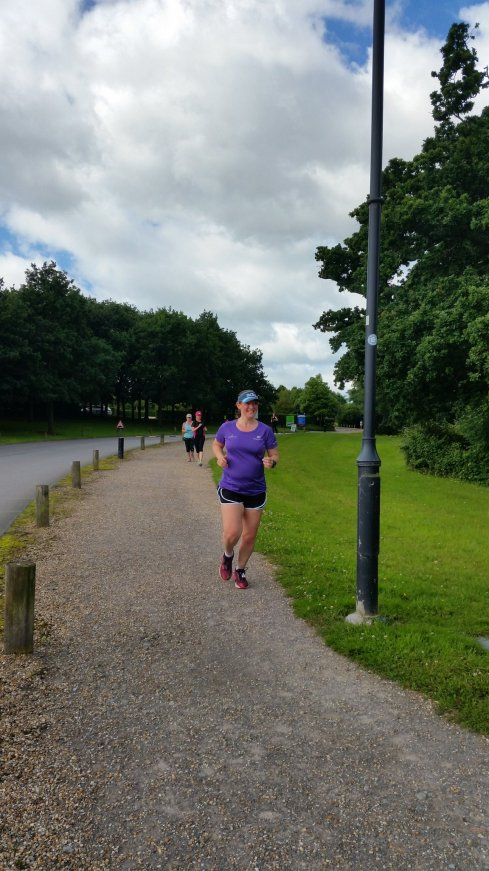Towards the end at Fareham parkrun