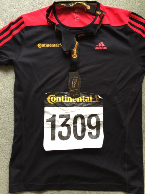 Thunder Run t-shirt, race number and medal