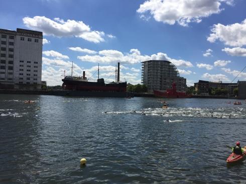 Stu's swim wave at London Tri