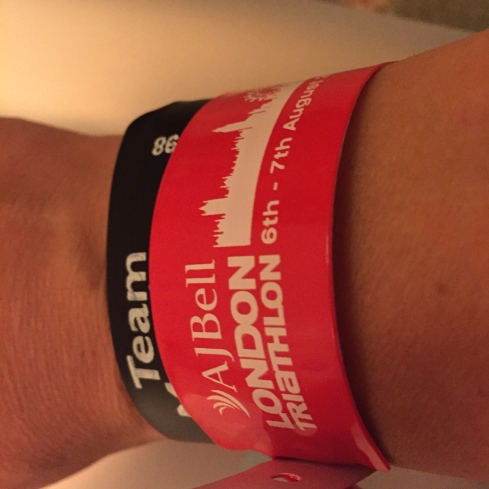 London Triathlon wristbands