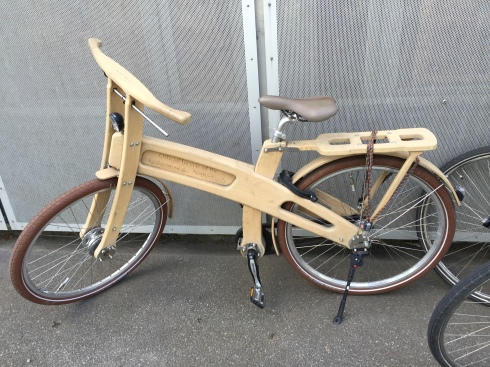 wooden bike in Denmark