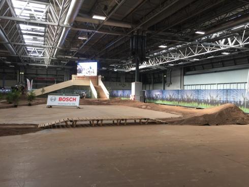 The mountain bike test track