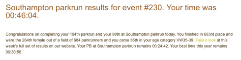 Morgelyn's first parkrun