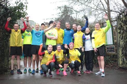 Sunday Runday Run Leaders cheering