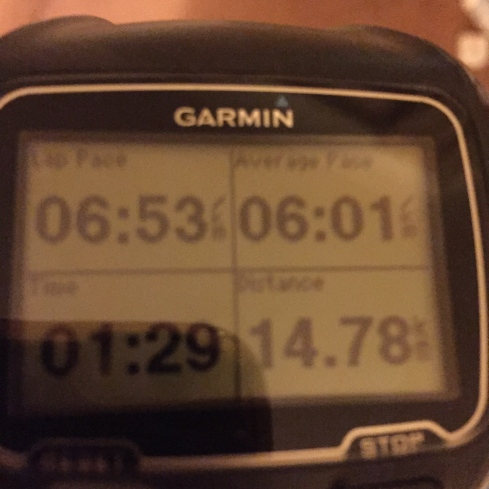 First post baby long run Garmin shot