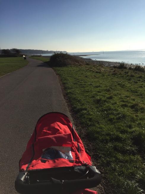 Walking along Weston Shore