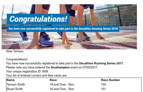 Decathlon 5k 2017