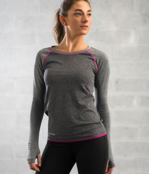 Season's trail long sleeve grey base layer