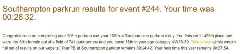 Southampton parkrun 11 February
