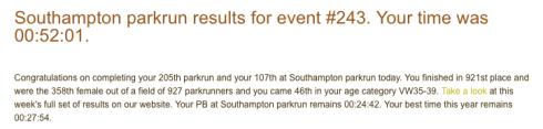 Southampton parkrun 4th February