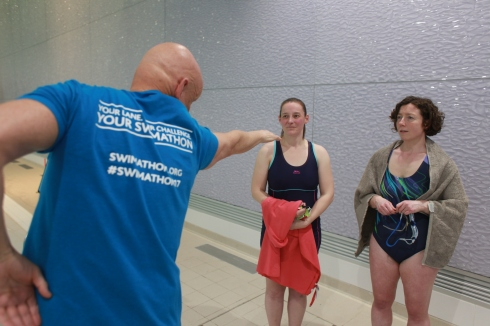 Duncan Goodhew discussing stroke with Tamsyn and Adele
