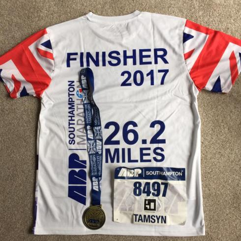 Finisher t-shirt and medal