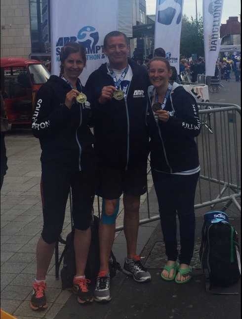 Medal photo with Pete and Kate
