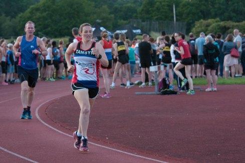 Tamsyn running at Mile of Miles