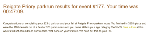 Reigate Priory parkrun