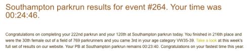 Southampton parkrun 15 July 2017