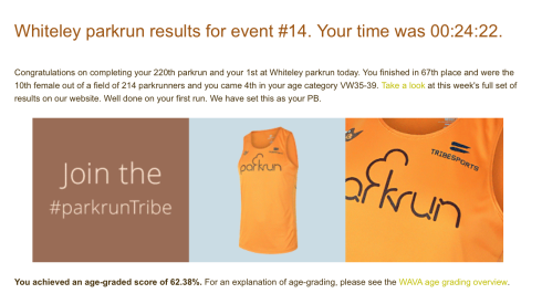 Whiteley parkrun
