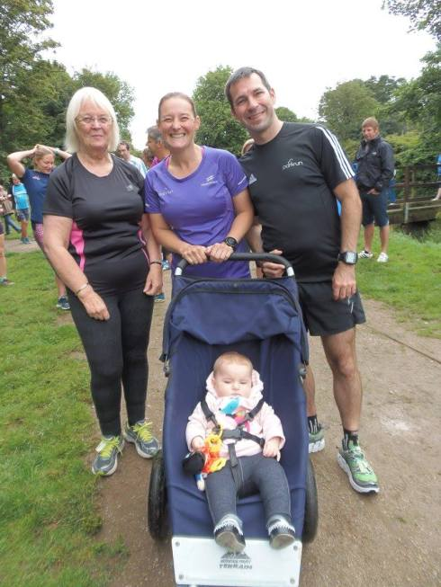 Family at Penrose parkrun