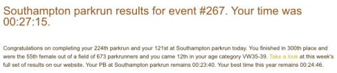 Southampton parkrun 5 Aug 17